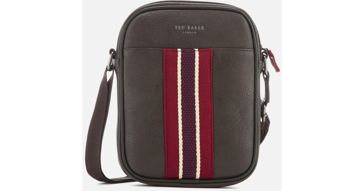 Ted Baker Boxet Webbing Mini Flight Bag for Men - Lyst c05627b65f182