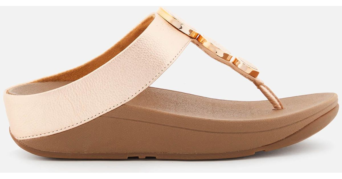 0ac966d19 Lyst - Fitflop Halo Toe Post Sandals in Pink