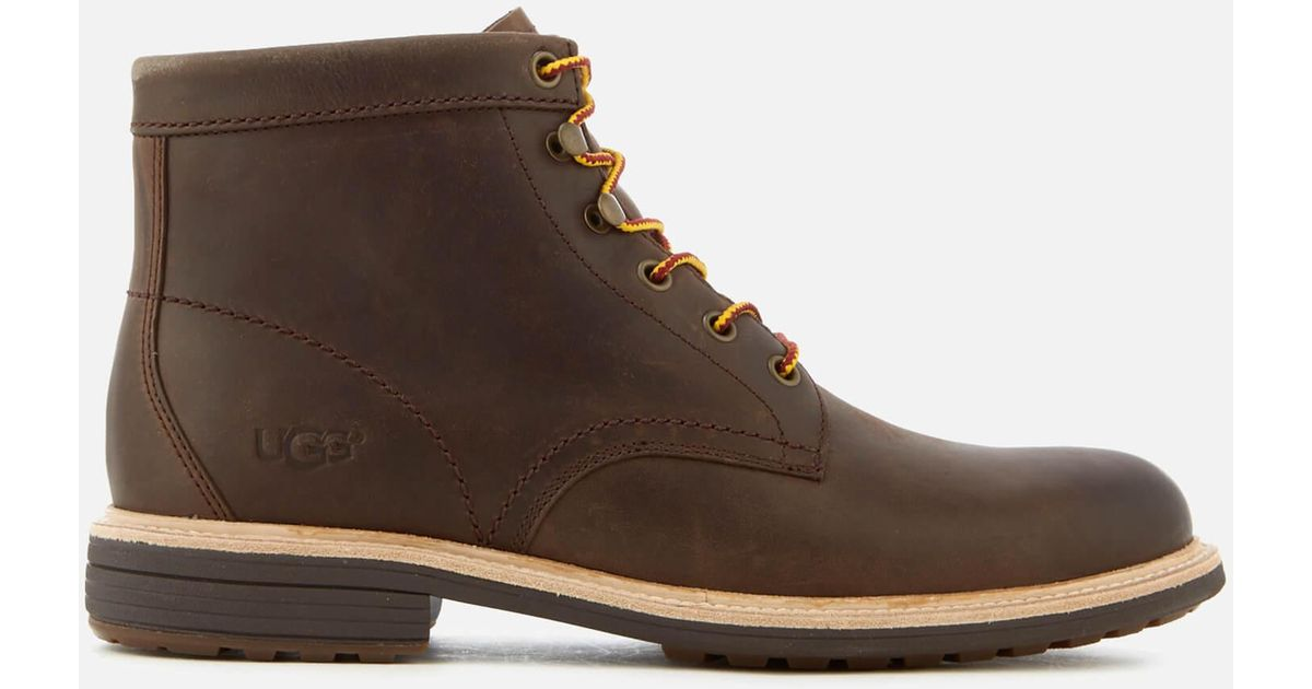 28acde2e3f4 Ugg - Brown Vestmar Leather Lace Up Boots for Men - Lyst