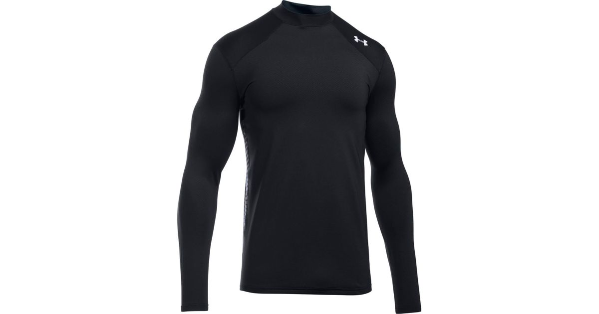 ab21a8a25f137a Under Armour Coldgear Reactor Fitted Long Sleeve Top in Black for Men - Lyst