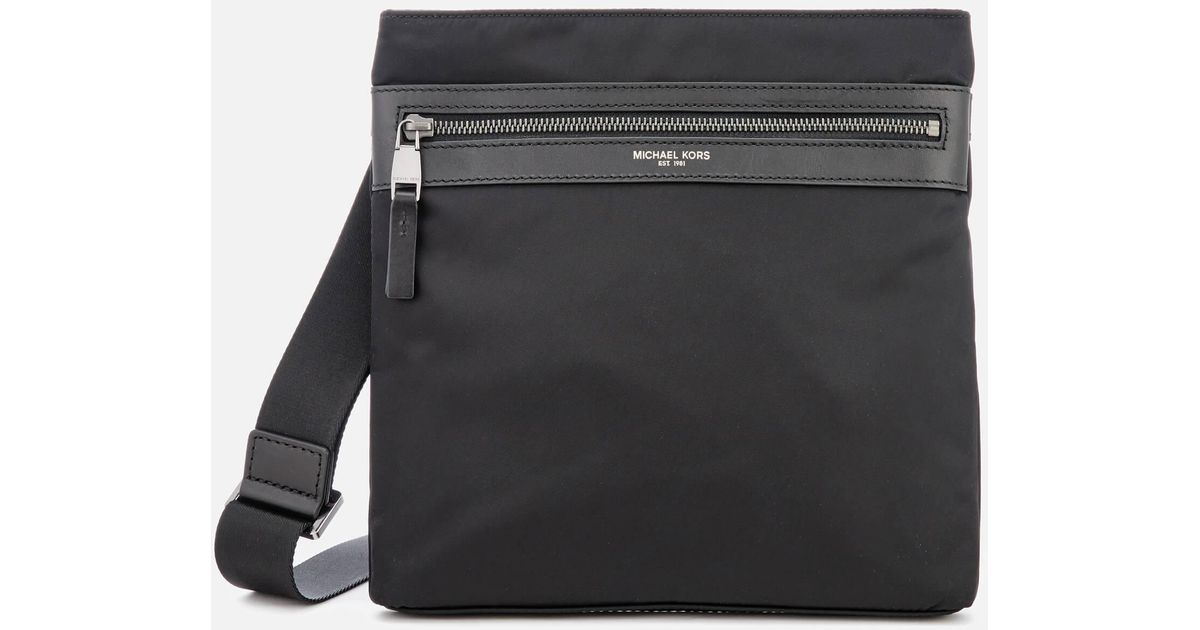 510c5a858035 Michael Kors Kent Flat Cross Body Bag in Black for Men - Lyst