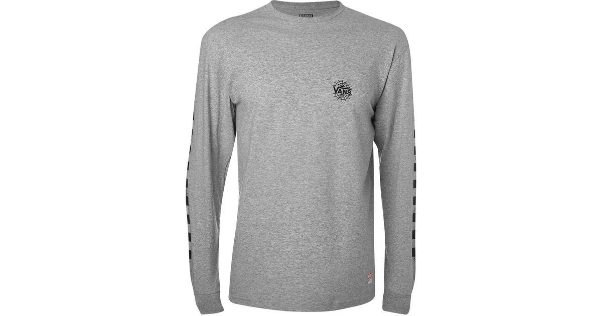 46c9eaa18ae7 Vans Marvel Spider-man Long Sleeve T-shirt in Gray for Men - Lyst