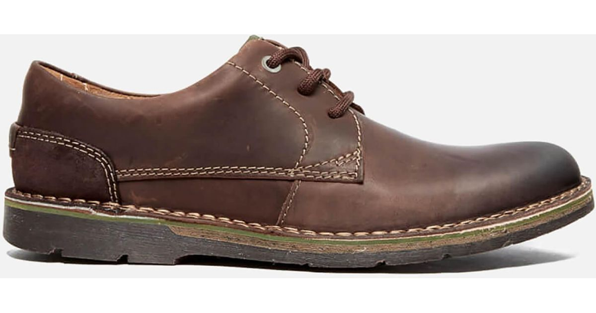 Plain For Edgewick Leather Shoes Men Clarks Brown clF13TKJ