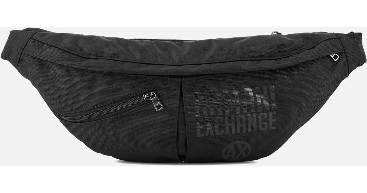 083b8c9fbae2 Armani Exchange Nylon Sling Bag in Black for Men - Lyst