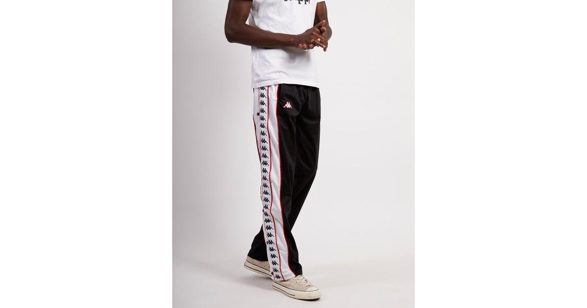 6b9cc3e7c Kappa 222 Banda Big Bay Pants Black/ White-red for men