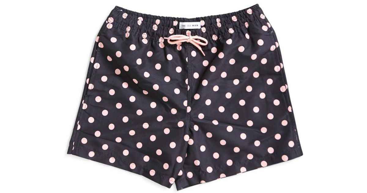 140d1d3e76 The Idle Man Polka Dot Swim Shorts Black in Black for Men - Lyst