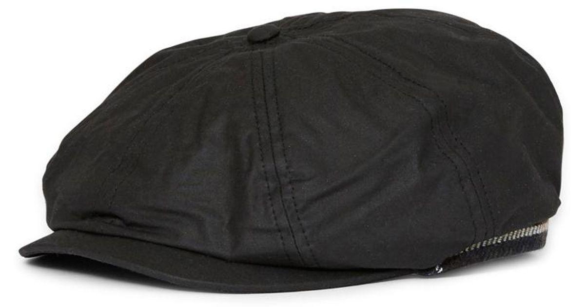 Lyst - Barbour Guillemot Bakerboy Hat Black in Black for Men 31dba1ac7f4