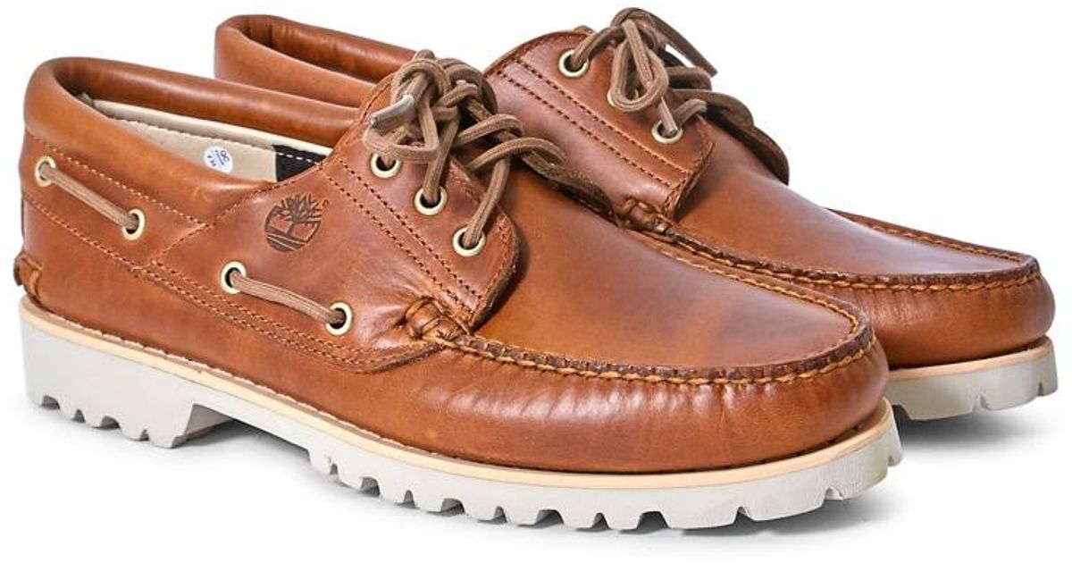 05a22b2a Timberland Chilmark 3 Eye Handsewn Shoe Tan in Brown for Men - Lyst
