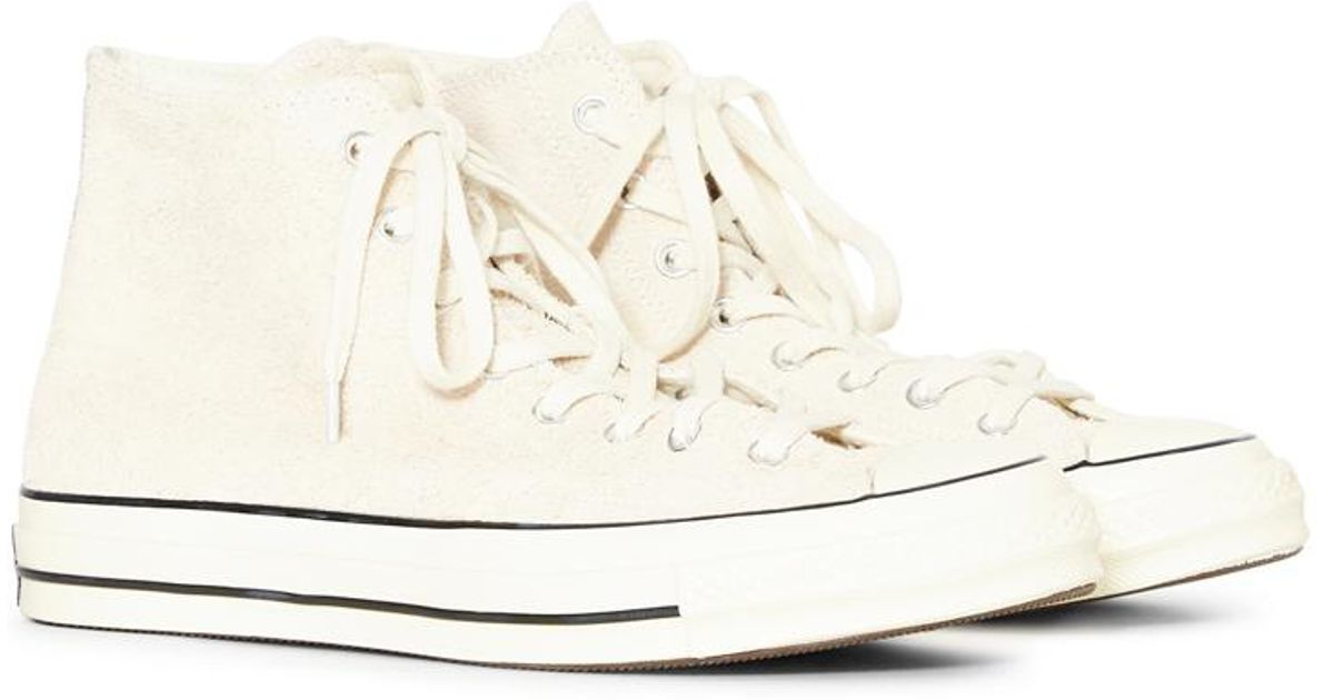 491c5110258f8e Lyst - Converse Chuck Taylor All Star  70 Vintage Suede Hi Off White in  White for Men