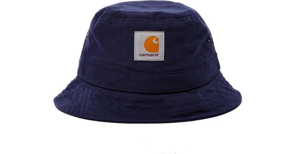 Lyst - Carhartt WIP Watch Bucket Hat Dark Navy in Blue for Men ce0537beeb6