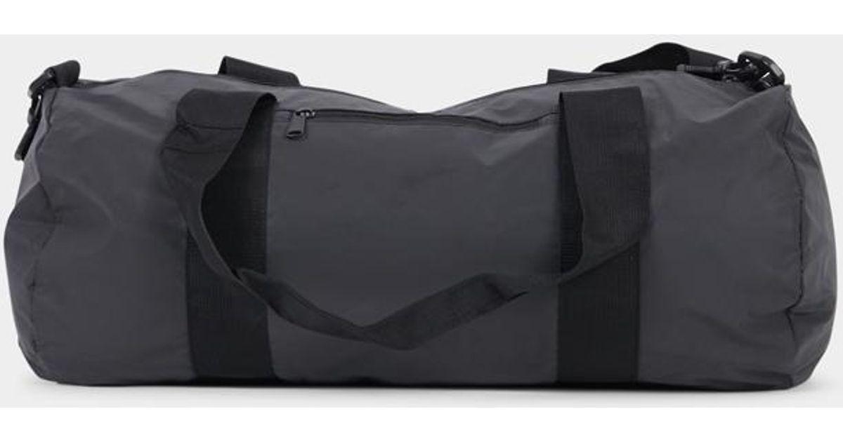 fb149d2f10 The Idle Man Reflective Barrel Bag Black in Black for Men - Lyst