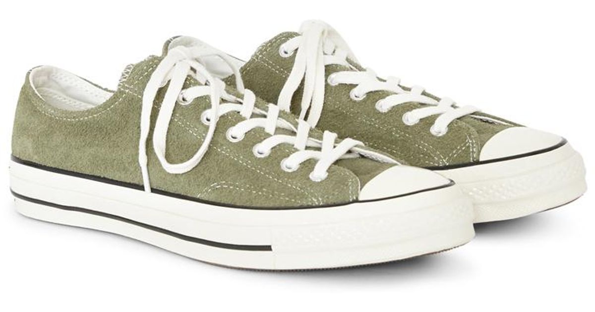 3507e1bf594a Lyst - Converse Chuck Taylor All Star  70 Suede Ox Green in Green for Men