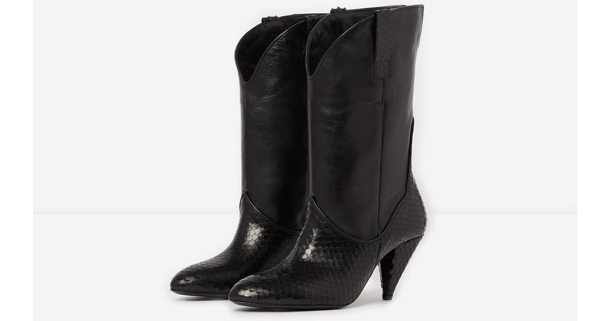 42da9c8aa4a The Kooples Heeled, Western-style Black Boots