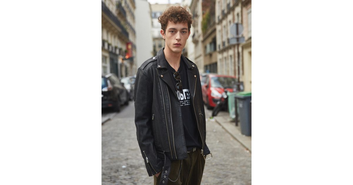 94fe6285e9 The Kooples Leather Jacket With Double Puller Front And Centre in Black for  Men - Lyst