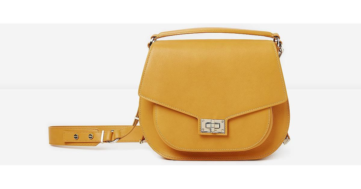 94a08e15c6c355 The Kooples Maxi Saddle Bag In Mustard Leather - Save 12% - Lyst
