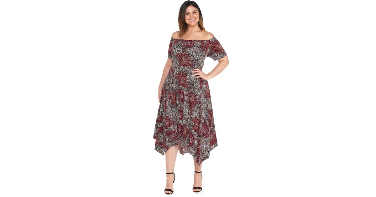 Lyst The Limited Plus Size Off The Shoulder Dress