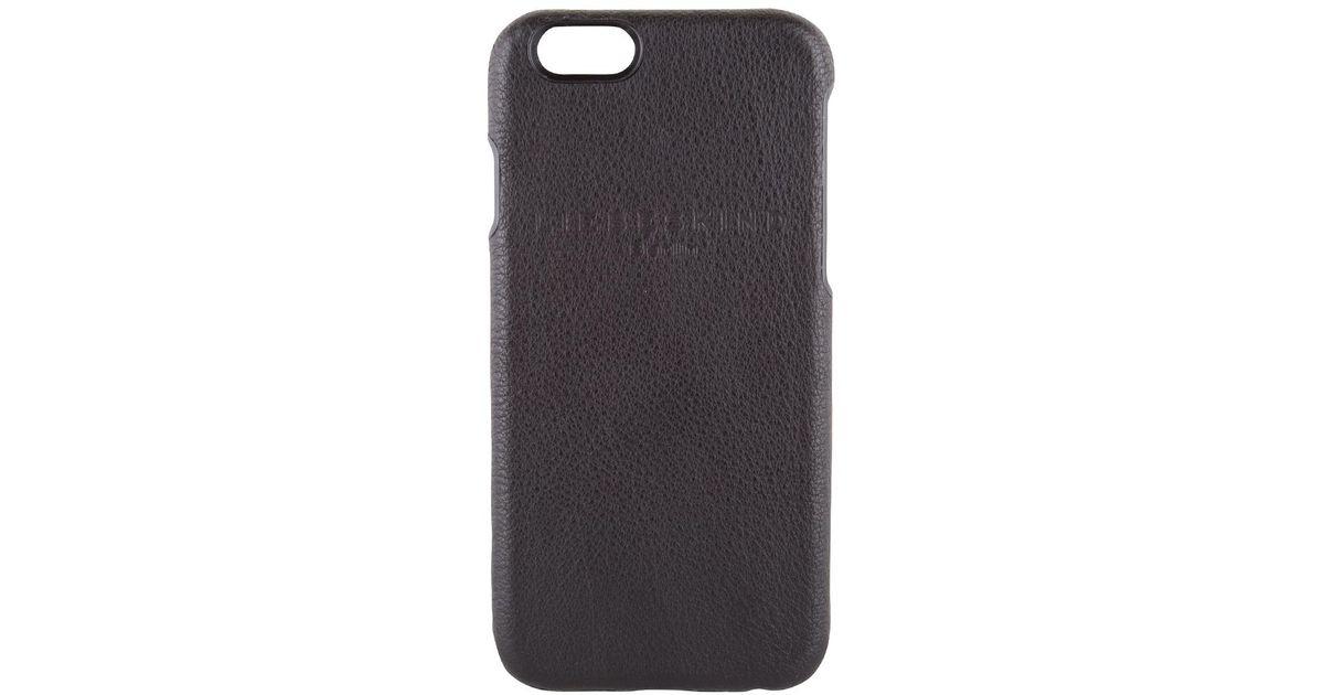 lyst liebeskind mobile cap iphone 6 in black. Black Bedroom Furniture Sets. Home Design Ideas