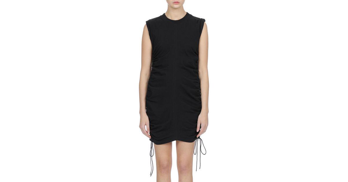 8fec4b02e18 Lyst - T By Alexander Wang Jersey Mini Dress W  Side Ties in Black