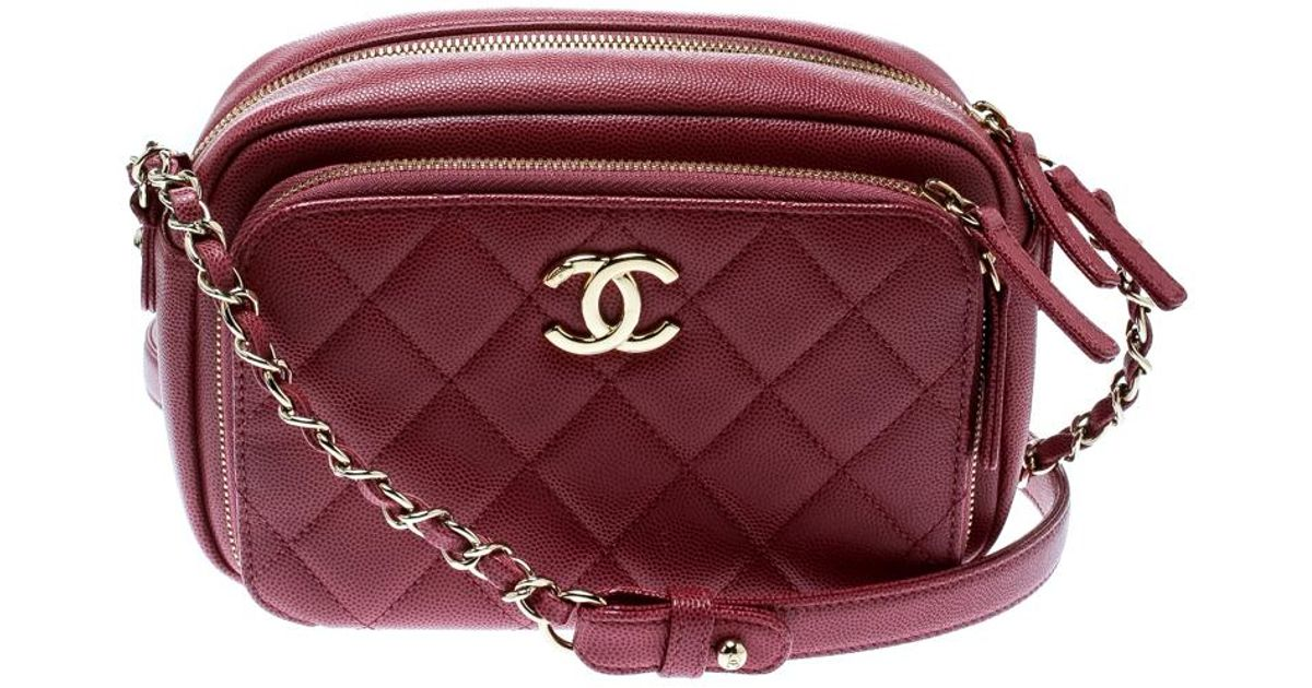 5abc80052f92 Chanel Quilted Leather Business Affinity Camera Case Shoulder Bag in Pink -  Lyst