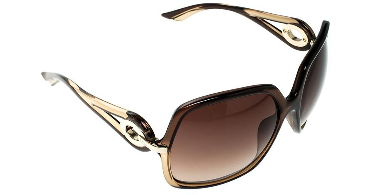 f53e221d1b Dior Christian   Gradient 5y7j6 Volute 1 Square Oversized Sunglasses in  Brown - Lyst