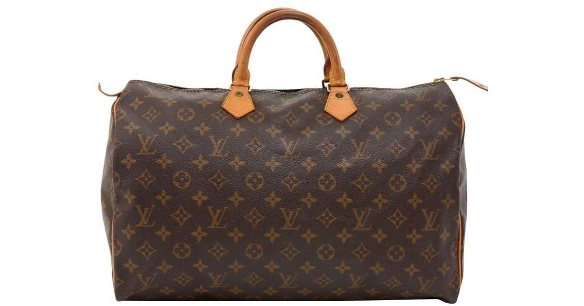 cd0188ef83cb Lyst - Louis Vuitton Monogram Canvas Speedy 40 Bag in Brown
