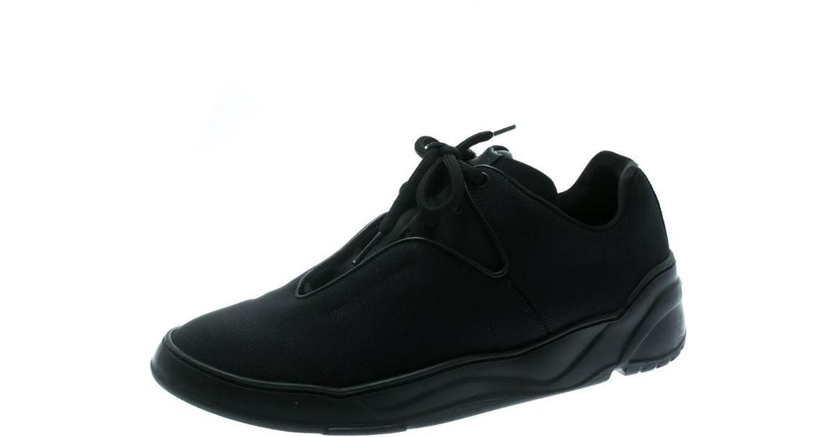 50c80eb252d Lyst - Dior Black Canvas And Leather Lace Up Sneakers Size 41 in Black for  Men