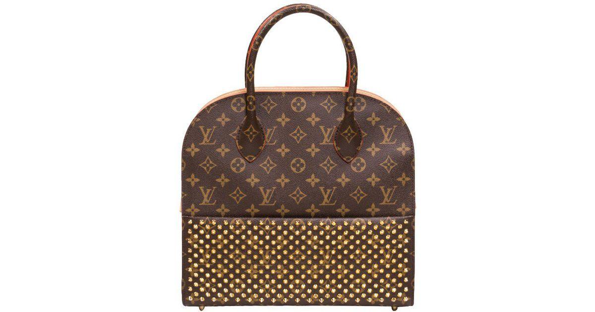 67aa3fa2 Louis Vuitton Multicolor Monogram Canvas Limited Edition Christian  Louboutin Shopping Bag