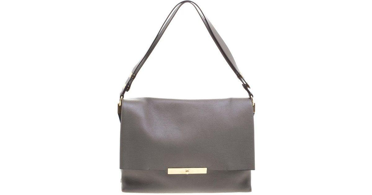 c720cca0fe Lyst - Céline Dark Leather Blade Shoulder Bag in Gray