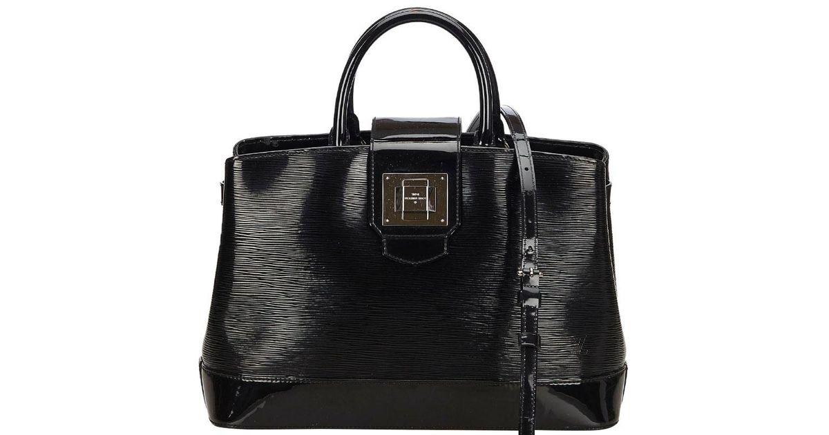 Lyst - Louis Vuitton Noir Electric Epi Leather Mirabeau Gm Bag in Black 96c24297c5f6b