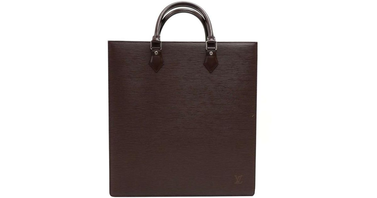 9b29a9f10a98 Louis Vuitton Moka Epi Leather Sac Plat Bag in Brown - Save 11% - Lyst