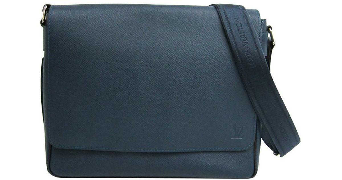 fe164f16678 Louis Vuitton - Blue Ocean Taiga Leather Roman Pm Messenger Bag for Men -  Lyst