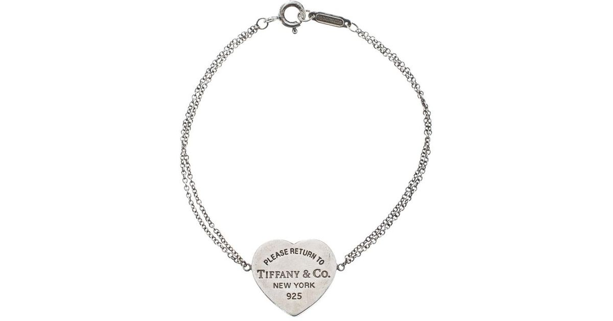 Tiffany Co Return To Tiffany Heart Tag Chain Bracelet In Silver Metallic Lyst