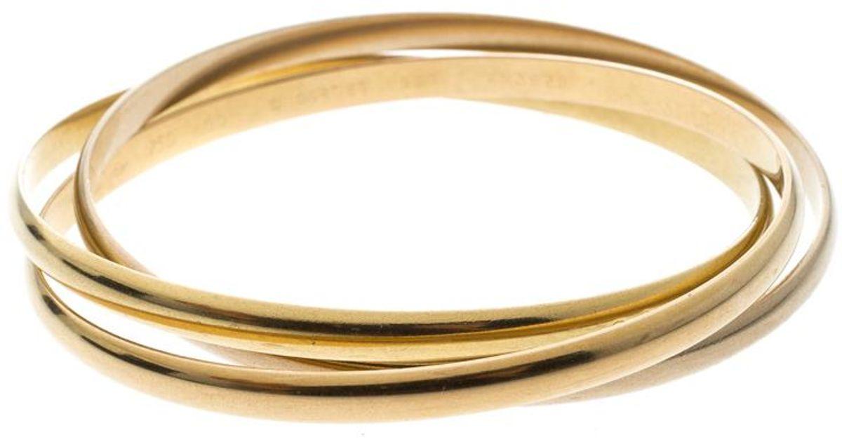 Cartier Trinity De 18k Three Tone Gold
