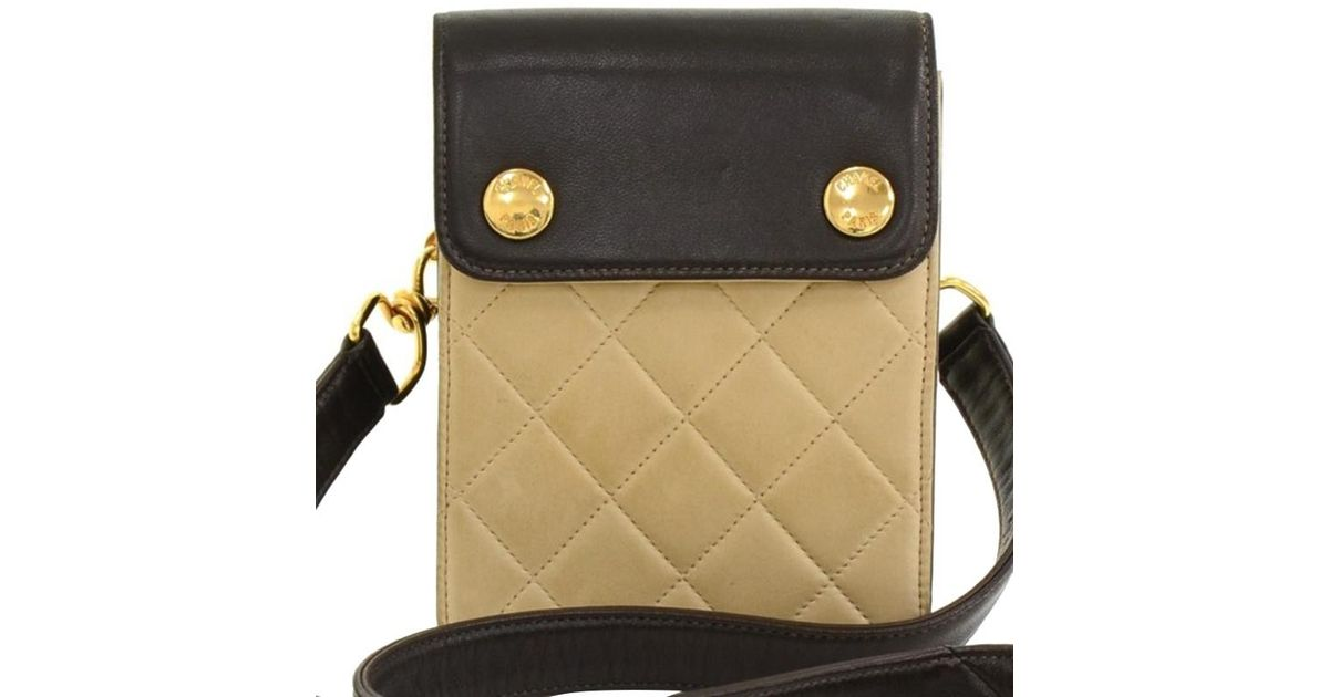 d6900405dc15e4 Chanel Bi Color Quilted Lambskin Mini Pouch Bag - Save 19% - Lyst