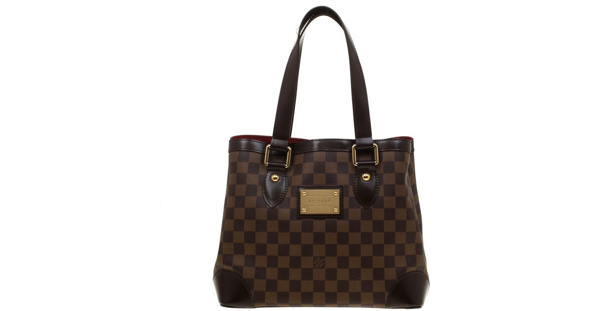 Louis Vuitton Damier Ebene Canvas And Leather Hampstead Pm Bag in Brown -  Lyst ed7fa2896db00