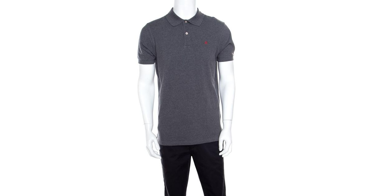 a47d5fb3f Lyst - CH by Carolina Herrera Honeycomb Knit Logo Embroidered Polo T-shirt  M in Gray for Men