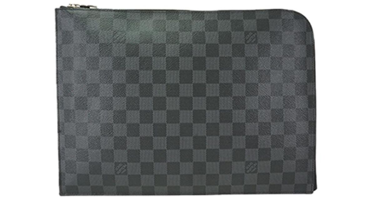 a3349d79 Louis Vuitton Black Damier Graphite Canvas Pochette Jour Gm for men