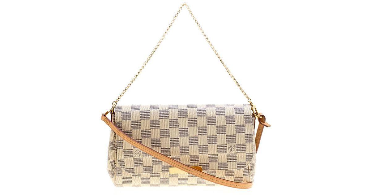43efebd0f6e5 Lyst - Louis Vuitton Damier Azur Monogram Canvas Favorite Mm Crossbody Bag  in Gray