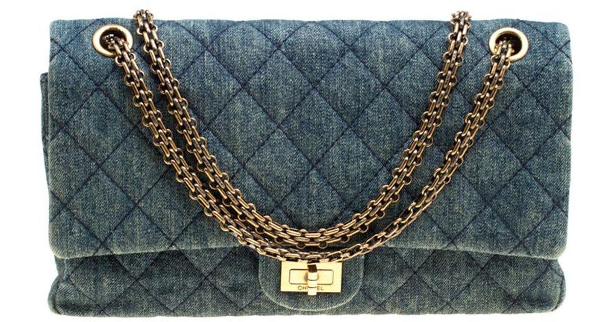 f87b169e52f872 Chanel Denim Reissue 2.55 Classic 226 Flap Bag in Blue - Lyst