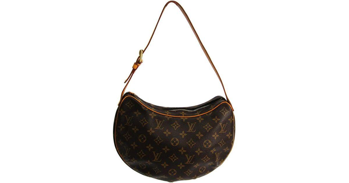 2aafca43b414 Lyst - Louis Vuitton Monogram Canvas Croissant Mm Bag in Brown