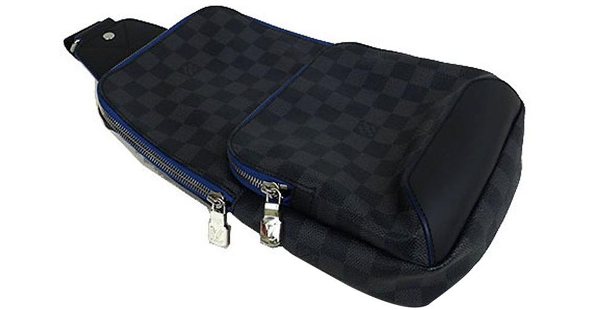 247b8ab92 Louis Vuitton Damier Graphite Canvas Avenue Sling Bag in Blue for Men - Lyst