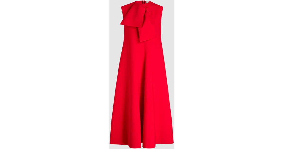 Buy Cheap Shop Offer With Paypal For Sale Sleeveless Neck-Tie Crepe Midi Dress Maison Rabih Kayrouz Buy Cheap Amazon For Cheap Online nzEHR