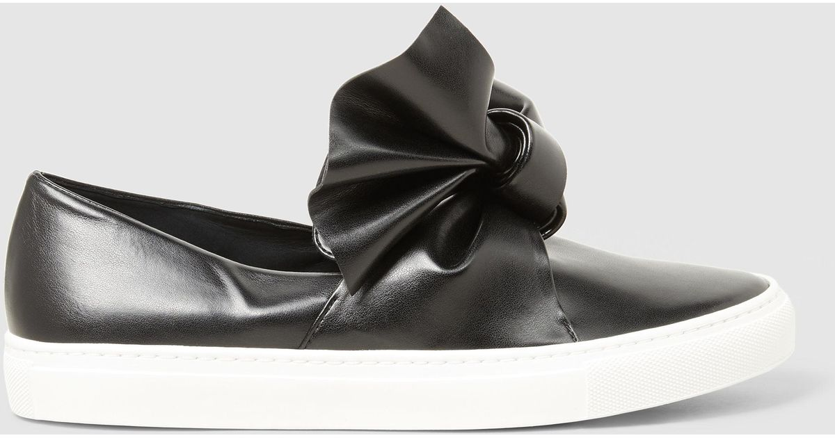 Bow-Detail Leather Sneakers Cedric Charlier WO12yH354