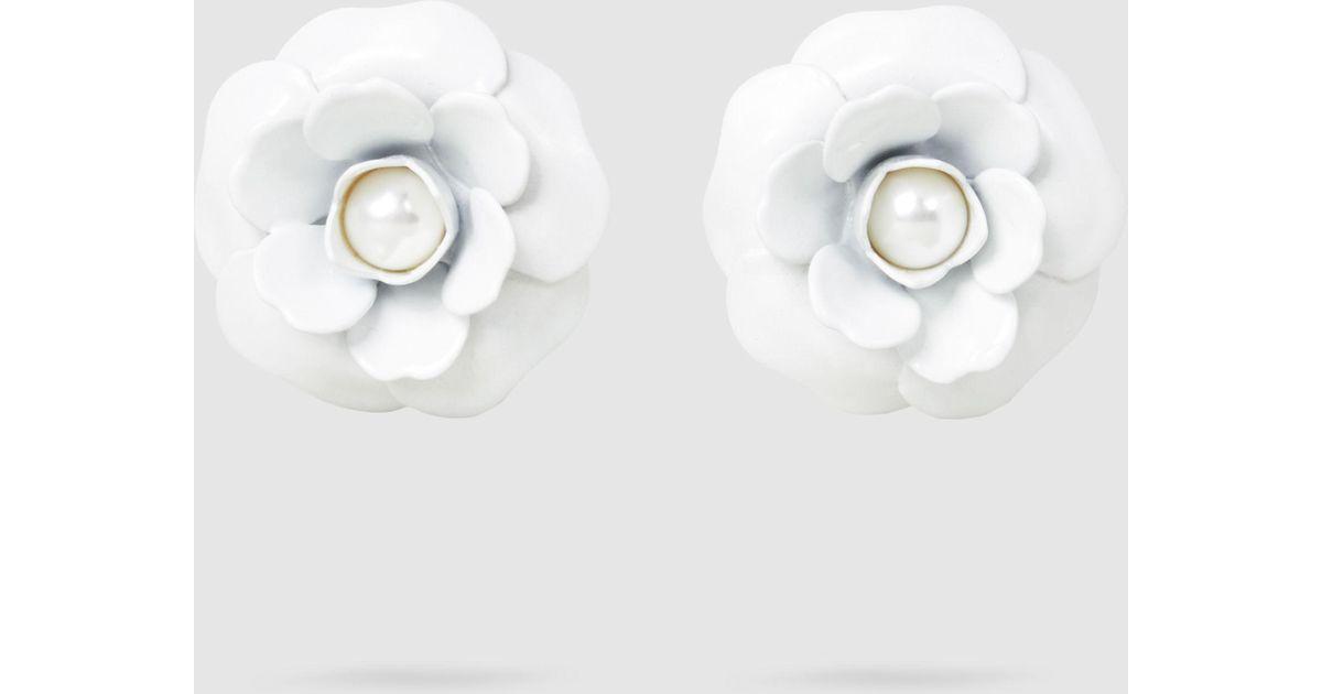 Alessandra Rich Rose Faux-Pearl Earrings 4nEPZzv