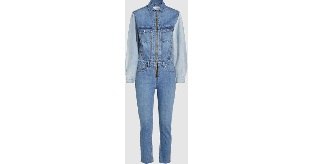 Ajess Two-Tone Denim Jumpsuit Iro Clearance Online Amazon Discount Sneakernews Outlet Discount Official Site Cheap Price Outlet Pay With Paypal HtGolJc