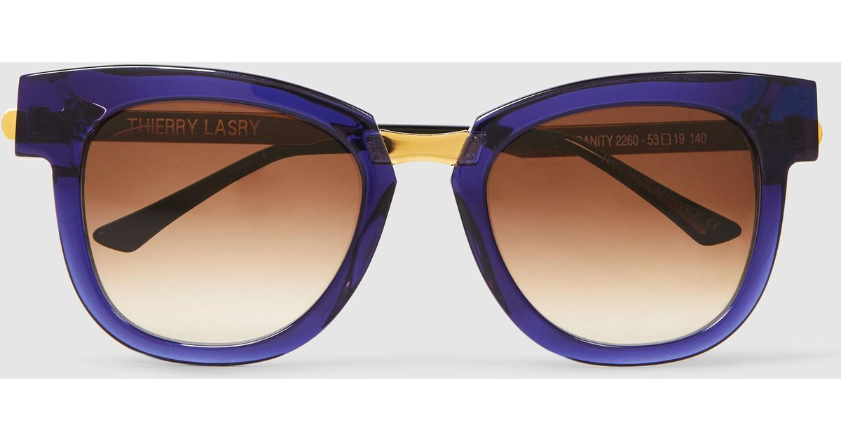 Mondanity Round-Frame Sunglasses Thierry Lasry QToIE