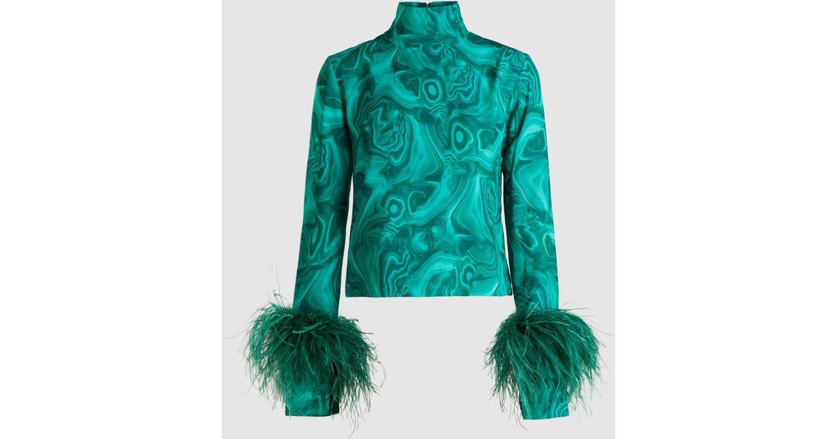 16Arlington Green Panda Feather-cuff Sweatshirt