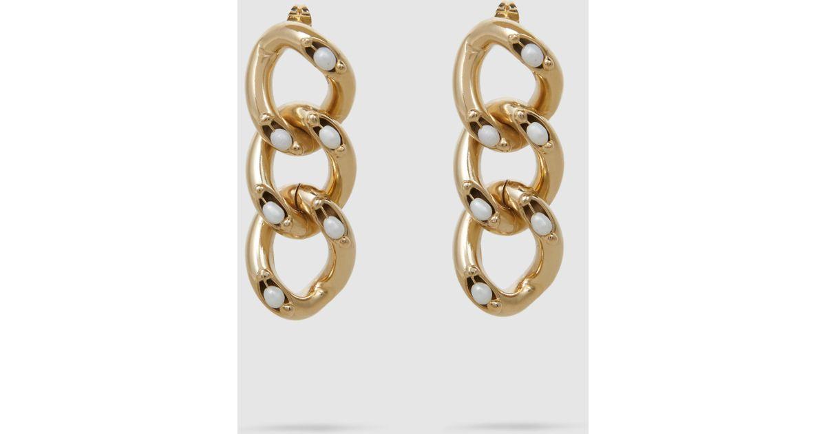Ingranaggio Pearl-Embellished Gold-Tone Earrings Rosantica ek55lq3