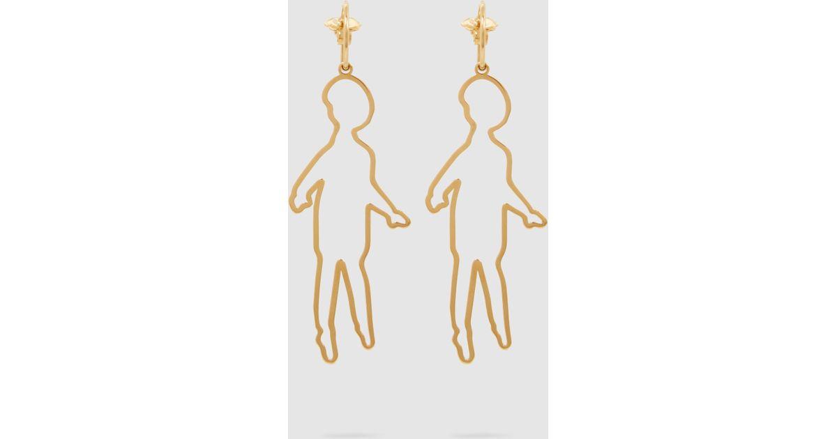 Simone Rocha Gold-Plated Doll Earrings XWkGMHl