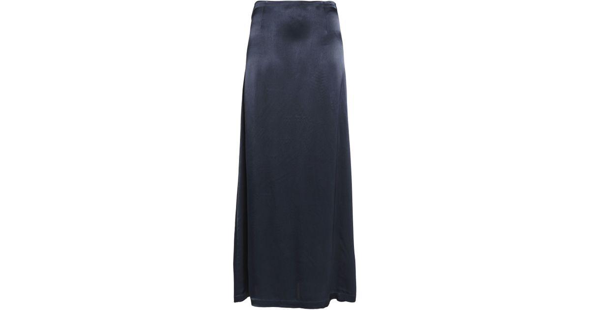 1ba29f6fc Lyst - Ganni Satin-crepe Maxi Skirt in Blue